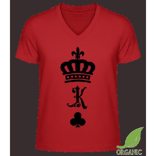 König Krone - Männer Bio V-Neck T-Shirt