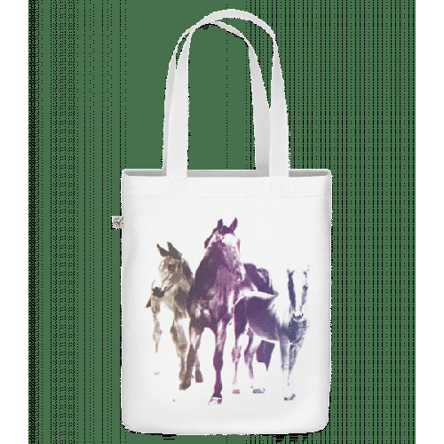 Polaroid Pferde - Bio Tasche