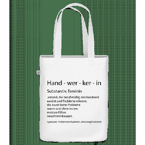 Handwerkerin Quatsch Duden - Bio Tasche