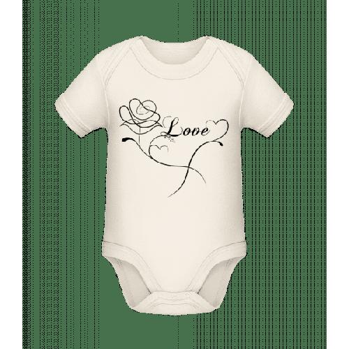 Love Blumen - Baby Bio Strampler