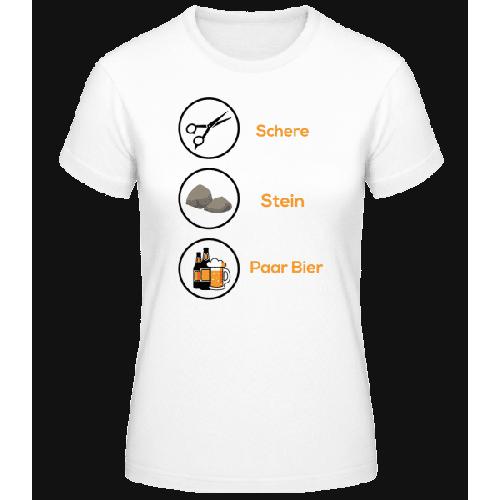 Schere Stein Paar Bier - Basic T-Shirt