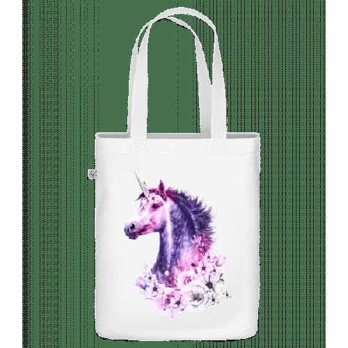 Blumen Einhorn - Bio Tasche