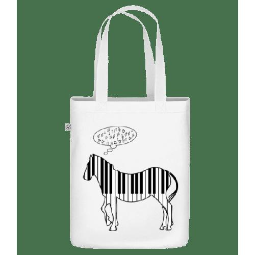 Klavier Zebra - Bio Tasche