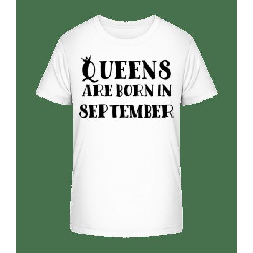 Queens Are Born In September - Kinder Premium Bio T-Shirt