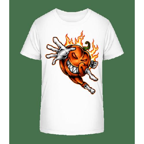 Brennender Kürbis - Kinder Premium Bio T-Shirt