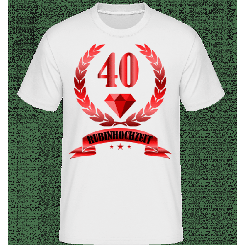 40 Jahre Rubinhochzeit - Shirtinator Männer T-Shirt