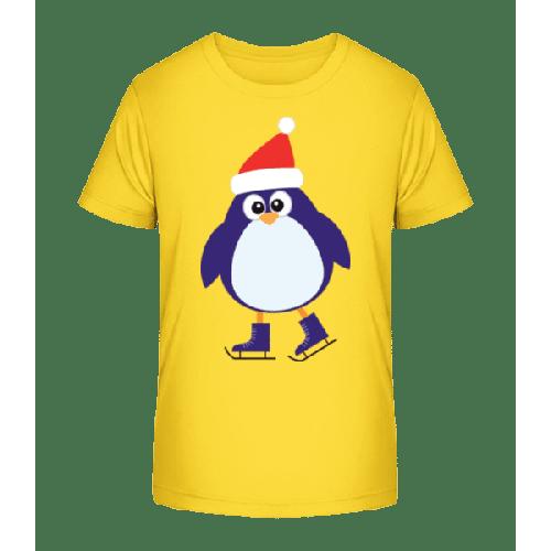 Schlittschuh Pinguin - Kinder Premium Bio T-Shirt