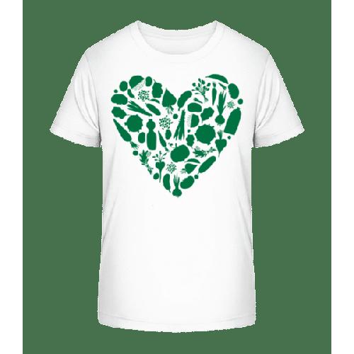 Vegetarisches Herz - Kinder Premium Bio T-Shirt