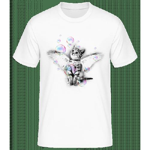 Katze Und Seifenblasen - Männer Basic T-Shirt