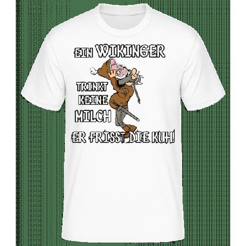 Wikinger Fressen Die Kuh - Männer Basic T-Shirt