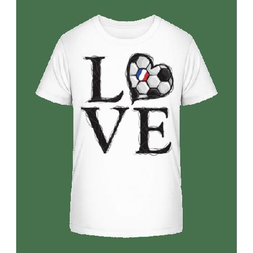 Fußball Liebe Frankreich - Kinder Premium Bio T-Shirt