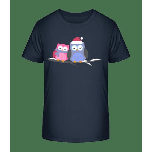 Weihnachtseulen - Kinder Premium Bio T-Shirt