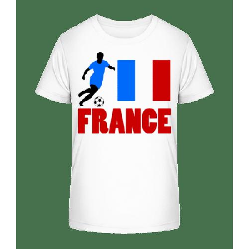 Frankreich Fahne Fußballspieler - Kinder Premium Bio T-Shirt