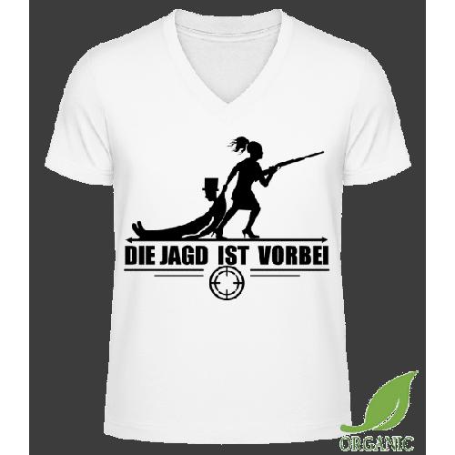 Die Jagd Ist Vorbei - Männer Bio V-Neck T-Shirt