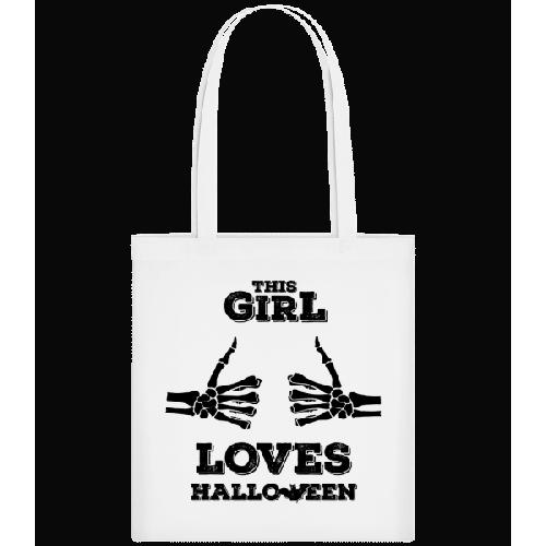 This Girl Loves Halloween - Stoffbeutel
