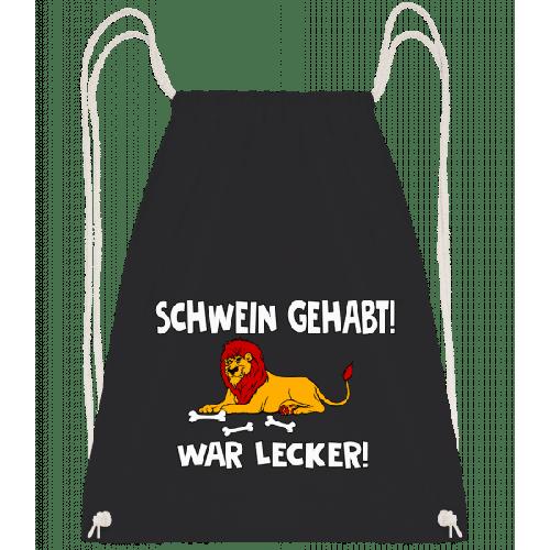 Schwein Gehabt War Lecker - Turnbeutel