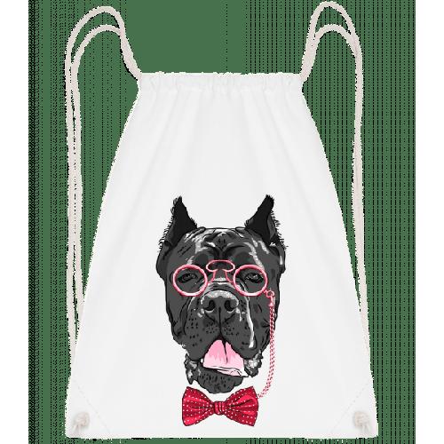 Hund Mit Brille - Turnbeutel