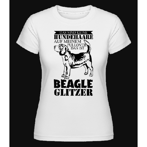 Hundehaare Beagle Glitzer - Shirtinator Frauen T-Shirt