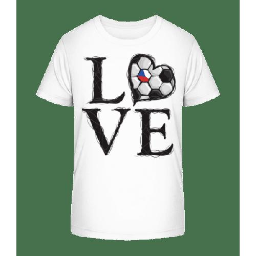 Fußball Liebe Tschechien - Kinder Premium Bio T-Shirt