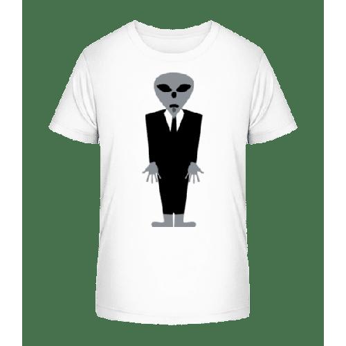 Alien im Anzug - Kinder Premium Bio T-Shirt