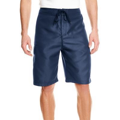 Burnside B9301 Men's Solid Board Short in Navy Blue size 32 | Polyester