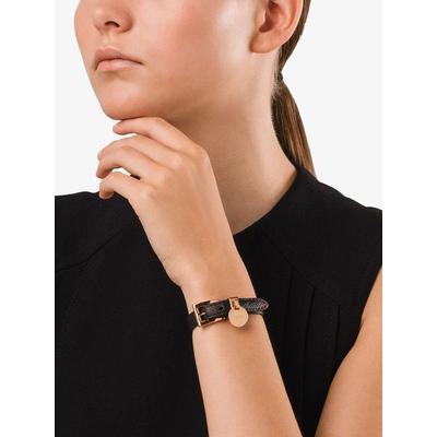 Prada Bracelet en cuir grainé