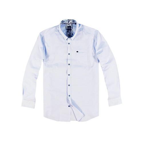 Sommerliches Hemd mit floralem Muster Engbers Hellblau