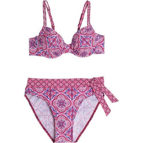 FIREFLY Damen Bikini Tanja, Größe 40B in Pink/Rot/Weiß