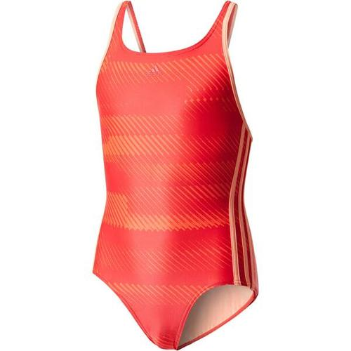 ADIDAS Mädchen Badeanzug OCC Swim, Größe 116 in REDNIT/SUNGLO