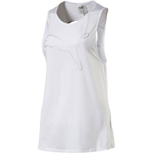 PUMA Damen Trainingstank Oceanaire Logo, Größe XS in PUMA WHITE HEATHER