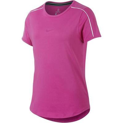 NIKE Mädchen Tennisshirt Dry Top Kurzarm, Größe L in Lila