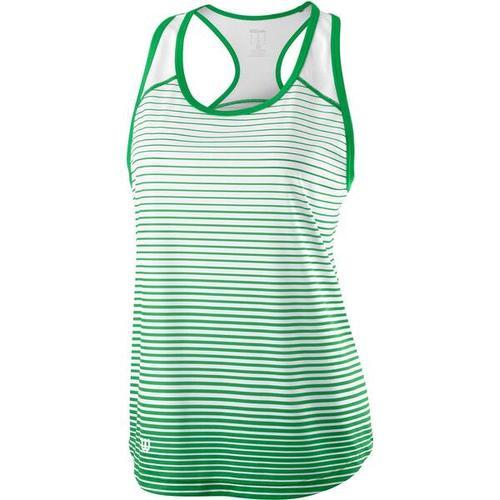 """WILSON Damen Tennis Tanktop \""Team Striped Tank\"""", Größe L in ANDEAN TOUCAN/WHITE"""