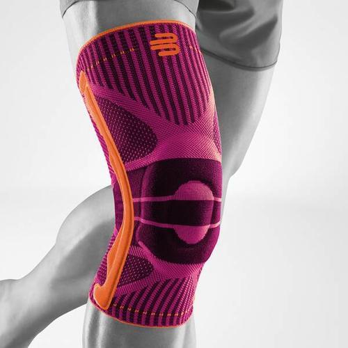 BAUERFEIND Kniebandage, Bandage Knie Sports Knee Support, Größe XL in Pink