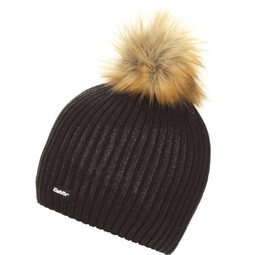 EISBÄR Damen Mütze Grania Lux MÜ, Größe ONE SIZE in schwarz-schwarze Folie