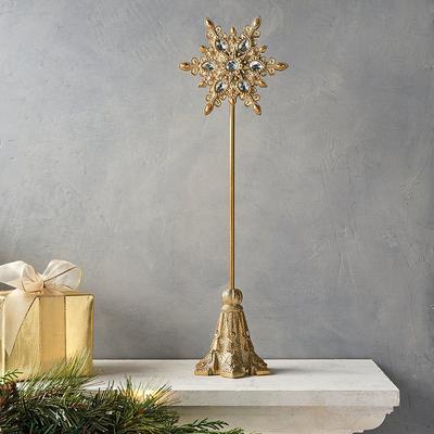 Jeweled Snowflake Tabletop Decor...