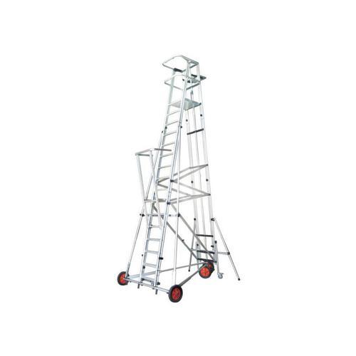 H. Saalleiter ESCA3000 Podesthöhe 5m kann vom Podest aus bewegt werden