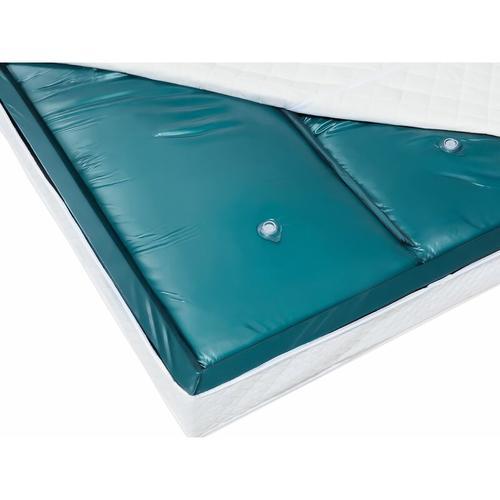Wasserbettmatratze Blau Vinyl 180 x 200 cm Dual System Voll beruhigt Mittelfest zwei Wasserkerne