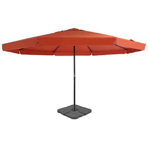 Sonnenschirm mit Schirmständer Terrakotta-Rot
