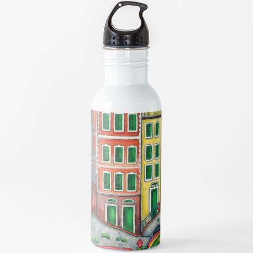 Farben von Riomaggiore Wasserflasche