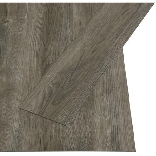 PVC Laminat Dielen Selbstklebend 4,46 m² 3 mm Grau und Braun