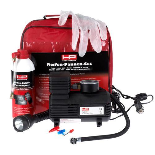 Hp Reifen Pannen-set Kompressor + Reifen-doktor Reparatur Reifen 10.257