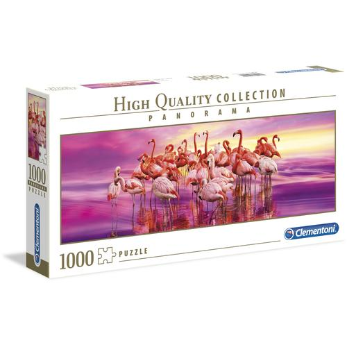 Clementoni Puzzle Panorama High Quality Collection - Tanz der Flamingos, Made in Europe rosa Kinder Ab 9-11 Jahren Altersempfehlung