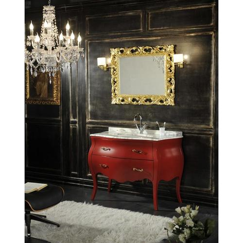 Badmöbel Barock Shabby Farbig In Rot