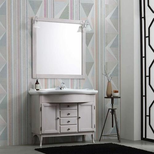 Schäbiger Badezimmerschrank Auf Dem Boden Schön Mit Waschbecken Und Spiegel