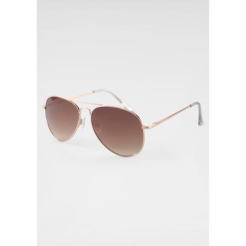 J.Jayz Sonnenbrille, Pilotsonnenbrille goldfarben Damen Pilotenbrille Sonnenbrillen Accessoires Sonnenbrille