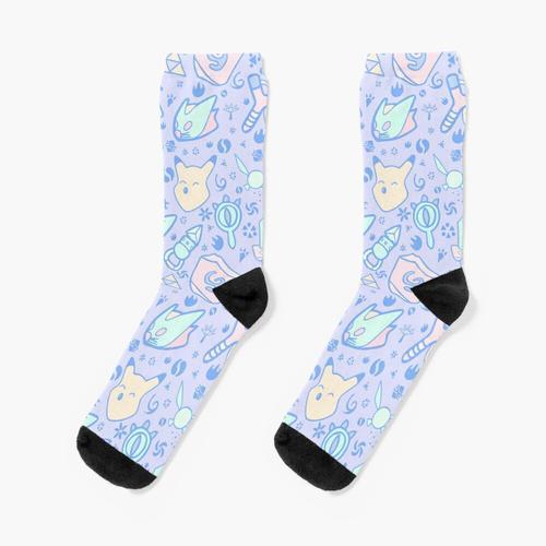 Zelda Doodlez (Blue Pastel ver.) Socken