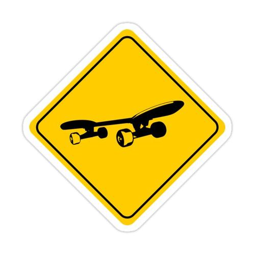 Skateboard Sign Sticker