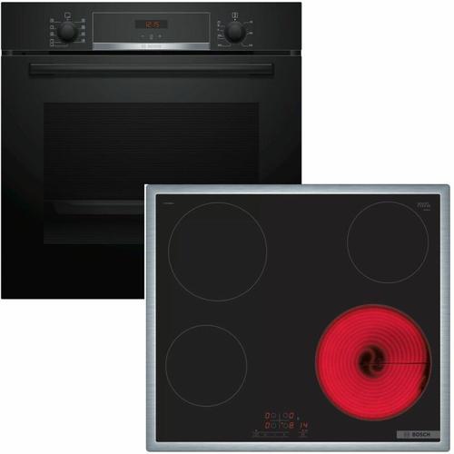 Backofen HBA534EB0 mit Kochfeld PKE645B17 - Bosch