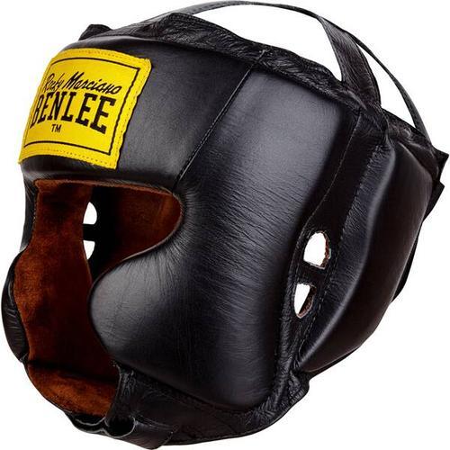 BENLEE Kopfschutz aus Leder TYSON, Größe S-M in Black