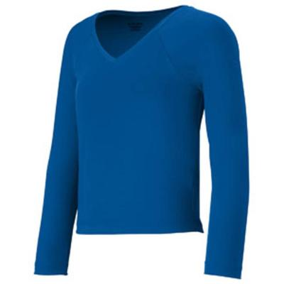 Augusta Sportswear 9013 Athletic Girls V-Neck Liner T-Shirt in Royal Blue size Small | Polyester Blend